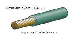 6mm Single Core Cable