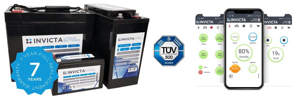 Invicta LiFePO4 Lithium Batteries