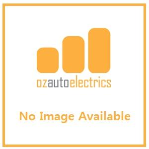 Hella Green LED Round Courtesy Lamp - Satin Stainless Steel Rim (12V)