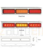 LED Autolamps 135CARRM Stop/Tail/Indicator Combination Lamp - Chrome (Bulk Boxed)