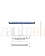 Hella GenII Wide Rim Strip LED - Blue Illuminated, 24V DC (95907365)