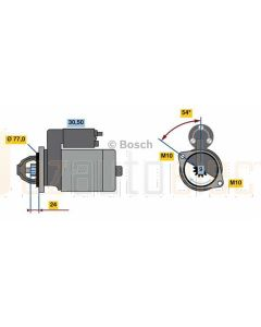 Bosch 0001138017 Starter Motor