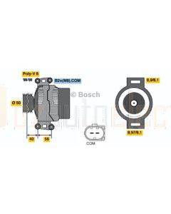 Bosch 0121715006 Alternator 14V 180A Mercedes