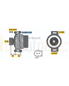 Bosch 0121813004 Mercedes Benz Alternator