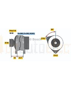Bosch 0123310053 Ford Escort Alternator