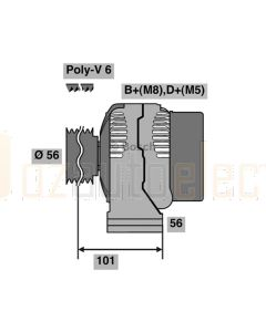 Bosch 0123320035 Mercedes Benz Alternator