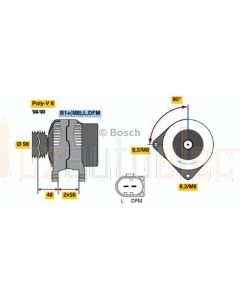 Bosch 0124325050 Volkswagen Alternator