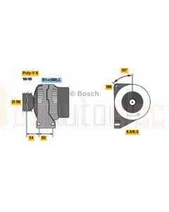 Bosch 0124625001 Alternator