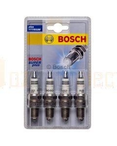 Bosch 0242235956 Spark Plug Set FR7LCX+ S32-4 Pack of 4