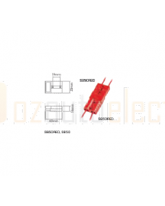 Ionnic High Current Connector - Red 50A