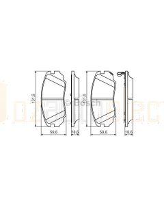 Bosch 0986494279 Brake Pad Set BP1191 - Set