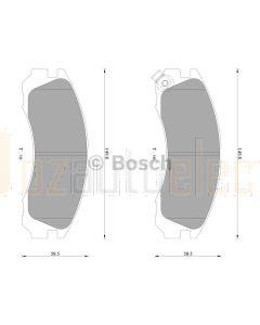Bosch 0986AB2065 Brake Pad Set DB1223BL - Set