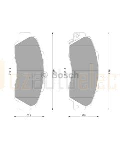 Bosch 0986AB2204 Brake Pad Set DB1206BL - Set