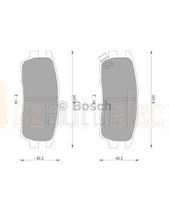 Bosch 0986AB2208 Brake Pad Set DB1231BL - Set