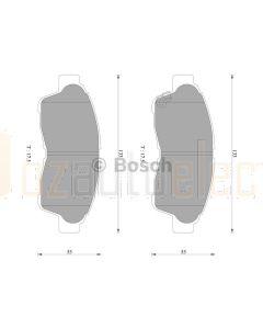Bosch 0986AB2242 Brake Pad Set DB1267BL - Set