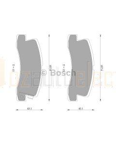 Bosch 0986AB2258 Brake Pad Set DB422BL - Set
