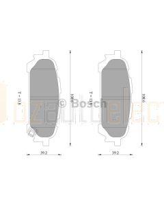 Bosch 0986AB2261 Brake Pad Set DB1672BL - Set