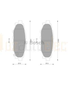 Bosch 0986AB2263 Brake Pad Set DB1803BL - Set