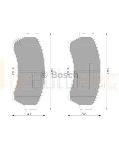 Bosch 0986AB2302 Brake Pad Set DB1942BL - Set