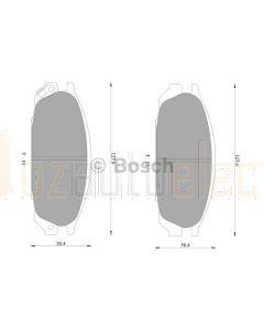 Bosch 0986AB2312 Brake Pad Set DB1146BL - Set