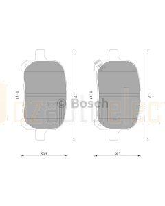 Bosch 0986AB2326 Brake Pad Set DB1345BL - Set