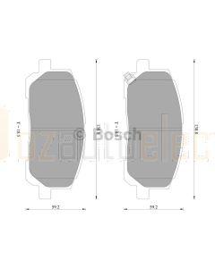 Bosch 0986AB2384 Brake Pad Set DB1488BL - Set