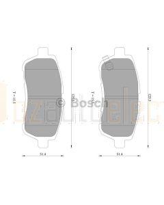 Bosch 0986AB2502 Brake Pad Set DB1941BL - Set