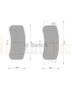 Bosch 0986AB2669 Brake Pad Set DB1464BL - Set