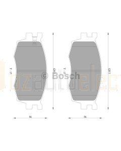 Bosch 0986AB3077 Brake Pad Set DB1787BL - Set