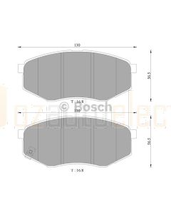 Bosch 0986AB3090 Brake Pad Set DB2072BL - Set
