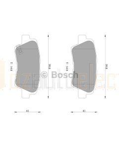 Bosch 0986AB3100 Brake Pad Set DB2088BL - Set
