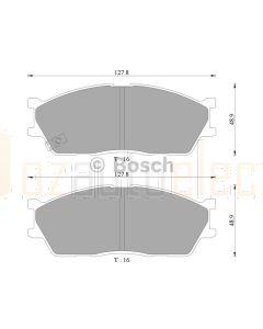 Bosch 0986AB1117 Brake Pad Set DB1808BL - Set