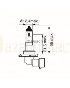 Bosch 0986AL1529 Automotive Bulb H10 12V 42W PY20d