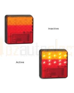 LED Autolamps 100ARM Stop/Tail/Indicator & Reflector Combination Lamp (Single Blister)
