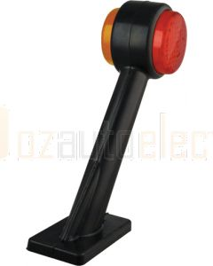 LED Autolamps 1004L Rubber Red/Amber Side Marker Lamp (LHS)