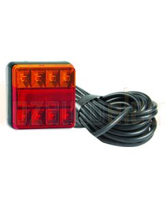 LED Autolamps 101BAR10 Stop/Tail/Indicator & Reflector Combination Lamp - 10m Cable (Bulk Poly Bag)