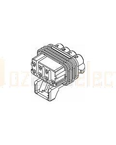 Delphi 12047938 8 Way Base, 7 usable Light Gray Metri-Pack 150 Sealed Female Connector Assembly, Max Current 14 amps