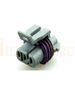Delphi 121299463 Way Medium Gray Metri-Pack 150 Sealed Female Connector Assembly, Max Current 14 amps