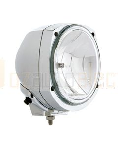Hella 1375CHROME HydroLUX Chrome Spread Beam Driving Lamp - Heavy Duty, 12V