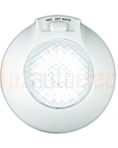 LED Autolamps 143RWW LED Marine Interior Lamp - White Base