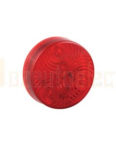 LED Autolamps Round Marker Lamps - Red (94mm Diam x 19mm high)