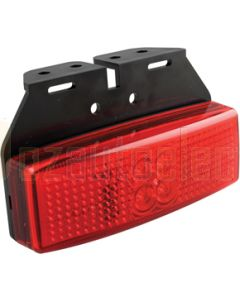 LED Autolamps 1491RM Rear End Outline Marker Lamp with Bracket