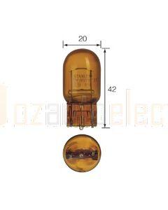Narva 17441 Premium Wedge Globe 12V Amber 21W T-20mm W3 x 16d (Box of 10)