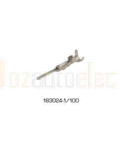 TE Connectivity 183024-1/100 SUPERSEAL 1.5 Series, Pin, Crimp, 16 AWG, Tin Plated Contacts
