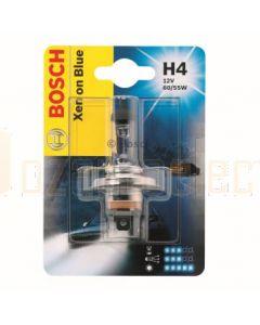 Bosch 1987301010 Bulb H4 12V 60/55W Xenon Blue P43t - Single
