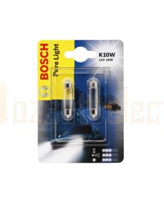 Bosch 1987301014 Automotive Bulb Festoon 12V 10W SV8,5-8 - Set of 2