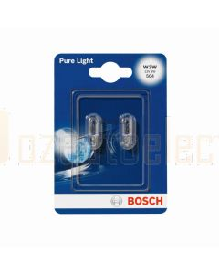 Bosch 1987301028 Automotive Bulb W3W 12V 3W W2,1x9,5d - Set of 2