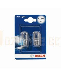 Bosch 1987301079 12V W21/5W W3x16q 21/5W Set of 2 T20 Wedge Bulbs
