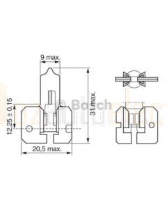 Bosch Bulb H2 12V 55W Pure Light X511 - Single