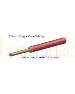 Narva 5812-7RD Red Single Core Cable 2.5mm (7m Roll)